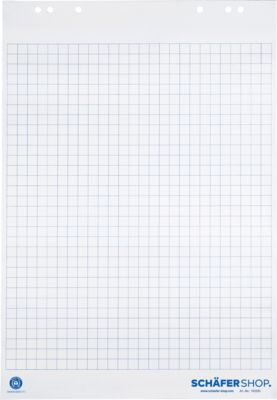 SCHÄFER SHOP Flipchart blokken van gerecycleerd papier, 80 g/m², 5 x 20 vel,  geruit