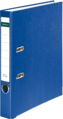 SCHÄFER SHOP Gekleurde PP/Papier ordner, 50 mm, blauw, 1 stuk