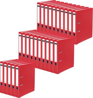 SCHÄFER SHOP Gekleurde PP/Papier ordner, 50 mm, rood, 25 stuks