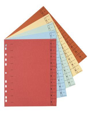 SCHÄFER SHOP Kartonnen gelinieerde tabbladen, te snijden, A4, diverse kleuren, 200 stuks