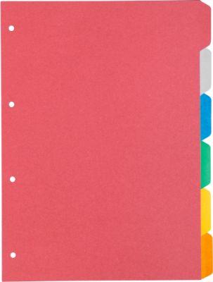 SCHÄFER SHOP Kartonregister SET, zur freien Verwendung, 6 Blätter, 6 Farben