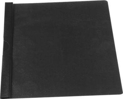 SCHÄFER SHOP Klemmmappe CLIP, DIN A4, Kunststoff, mit Clip, schwarz