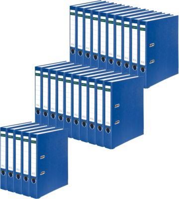 SCHÄFER SHOP Ordner, DIN A4, Rückenbreite 50 mm, 25 Stück, blau