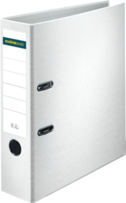 SCHÄFER SHOP Ordner, DIN A4, Rückenbreite 80 mm, weiß