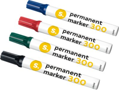 SCHÄFER SHOP Permanent markers 300, set van 4