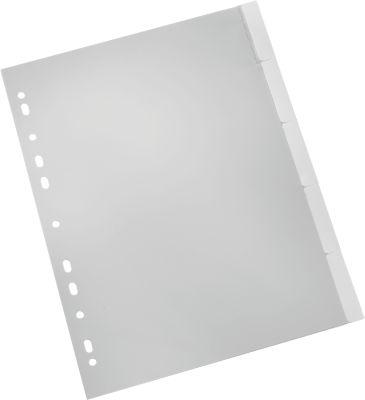 SCHÄFER SHOP PP-Register mit Wechseltaben, zur freien Verwendung, Zahlen 1-5, einzeln