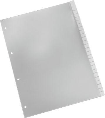SCHÄFER SHOP PP Tabbladen met insteekstrookjes, A4, grijs, 1-25