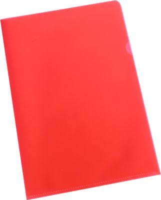 SCHÄFER SHOP Sichthülle, DIN A4, genarbt, 25 Stück, rot