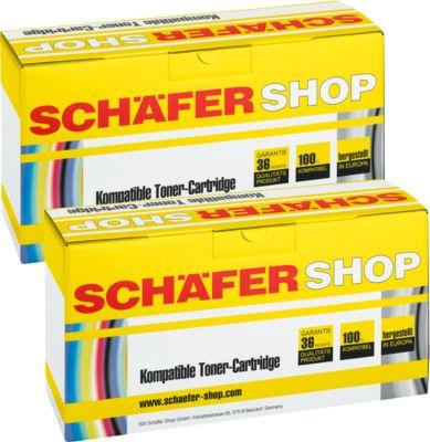 Schäfer Shop Sparpaket 2 x Toner baugleich Q2612A, schwarz