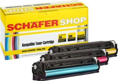 Schäfer Shop Sparset 3x Toner baugleich HP 128er, CMY, Multipack