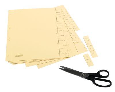 SCHÄFER SHOP Tabbladen met 10 blanco tabs,te snijden, A4, set van 100 tabbladen