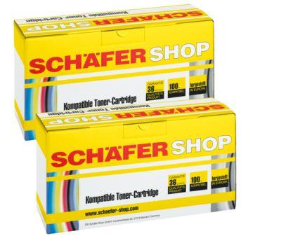 Schäfer Shop Toner-Sparset baugleich TN-2220/2010, schwarz