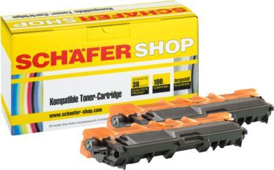 Schäfer Shop Toner-Sparset baugleich TN-242BK, schwarz