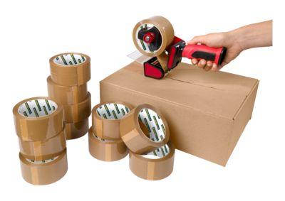 Schaefer Shop verpakkingstape CLIP PP, 50 mm x 66 m, 12 rollen met afroller