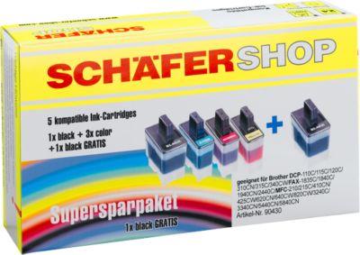 SCHÄFER SHOP voordeelset compatibele inktpatronen voor Brother®
