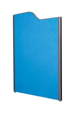 Schallschutzwand System Alu Klett, gewellt, 1800/1600 x 1250 mm, dunkelblau/anthrazit RAL 7016
