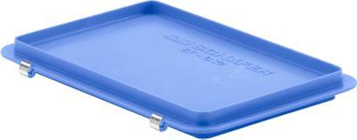 Scharnierdeckel EF-D 32 S für Kasten im EURO-Maß, blau