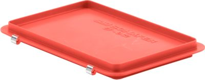 Scharnierdeckel EF-D 32 S für Kasten im EURO-Maß, rot