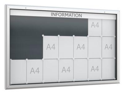 Schaukasten WSM, Querformat, B 1600 x T 45 x H 1025 mm, für Innen & Außen, abschließbar, Rückwand anthrazit
