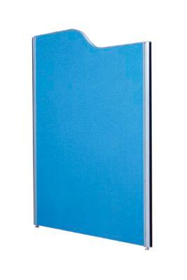 Scheidingswand, 850 x 1800 mm, lichtgrijs/donkerblauw