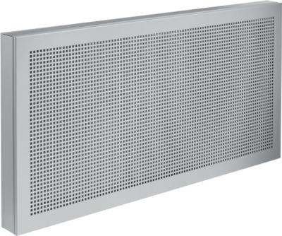 Scheidingswand bureau Akustika, van geperforeerd plaatstsaal, b 1000 x h 400 mm, lichtgrijs