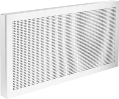 Scheidingswand bureau Akustika, van geperforeerd plaatstsaal, b 800 x h 400 mm, wit