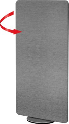 Scheidingswand Metropol, privacyscherm, draaibaar, B 800 x D 400 x D 400 x H 1700 mm, grijs