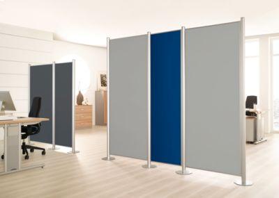 Scheidingswand Silent Line.Plus, 550 x 2000 mm, lichtgrijs