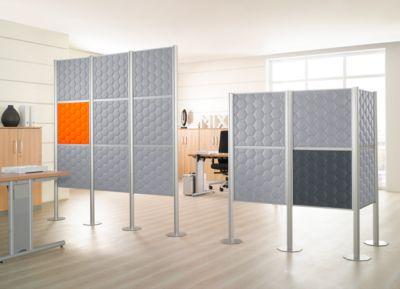 Scheidingswand Silent Office, 3 elementen, h 2000 mm, lichtgrijs