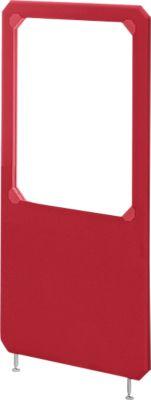 Scheidingswand stof/acryl, (bxh) 800 x 1600 mm, rood