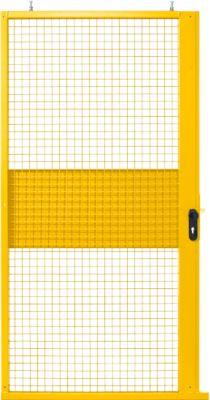 Schiebetür, für Gittertrennwandsystem, B 1110 x H 2110 mm, gelb