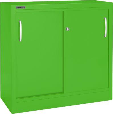 Schiebetürenschr.B1200 mm,2 OH, grün