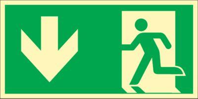 Schild Rettungsweg durch Ausgang, HLK
