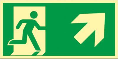 Schild Treppe aufwärts, rechtsweisend