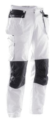 Schildersbroek wit/zwart C42