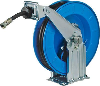 Schlauchaufroller, automatisch, für Öl und Diesel, Länge 12 Meter, Stahlblech