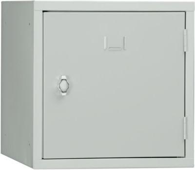 Schließfach Würfel, Türanschlag rechts, Drehriegelverschluss, erweiterbar, Stahl, Tür lichtgrau RAL 7035