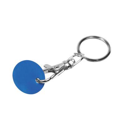 Schlüsselanhänger, mit Einkaufswagenchip, Chip blau