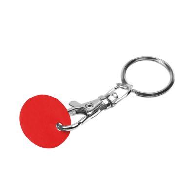 Schlüsselanhänger, mit Einkaufswagenchip, Chip rot