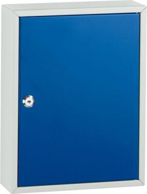 Schlüsselkasten mit 40 Schlüsselanhängern, lichtgrau/enzianblau