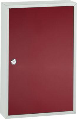 Schlüsselkasten TS64, 64 Schlüssel, lichtgrau/weinrot