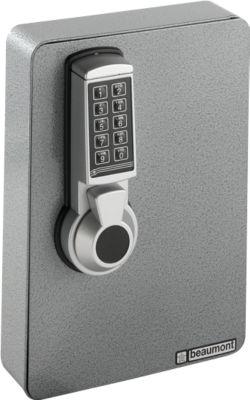 Schlüsselschrank, Elektronikschloss, 24 Haken, silber hammerschlag