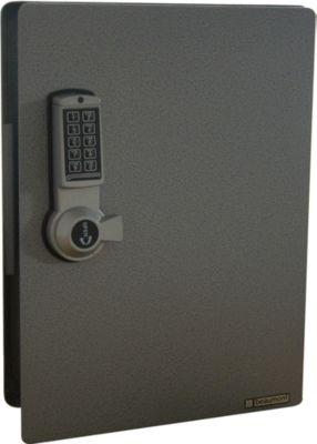 Schlüsselschrank mit Elektronikschloss, 91 Haken, silber hammerschlag