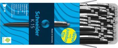 Schneider balpen K15 zwart-50 stuks