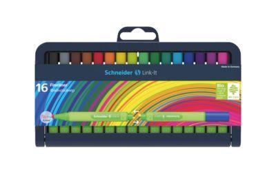 Schneider Fineliner Link-It Box, 0,4 mm, farbsortiert, 16 Stück