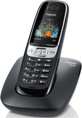 Schnurlostelefon Gigaset C620, schwarz