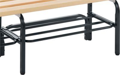 Schoenenrooster voor garderobebanksysteem, 1015 mm, staal, antr.