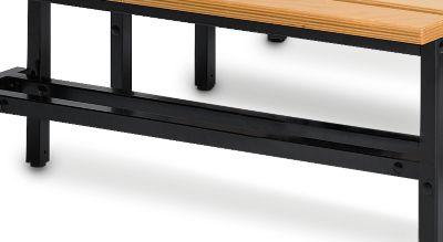 Schoenrooster, voor zitbank met l995mm, zwart