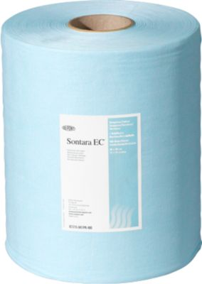 Schoonmaakdoekjes Sontara EC crêpe turquoise, 400 vel/rol