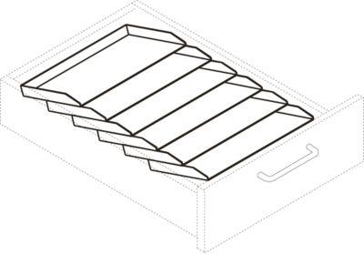 Schrägablageschale, für Rollcontainer 1233